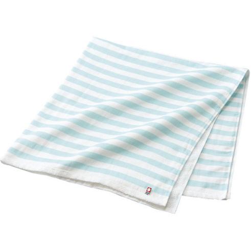 今治澡毛巾纱布无捻线长方形蓝色条纹