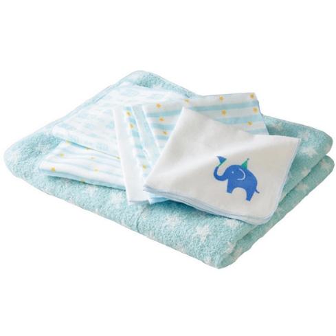 安吉特沐浴纱布8件套蓝色