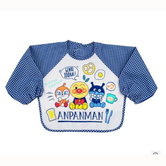 面包超人长袖围兜蓝色