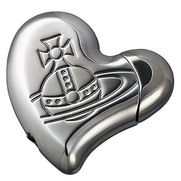Vivienne Westwood薇薇安土星情侣心形浪漫情人打火机 深银色