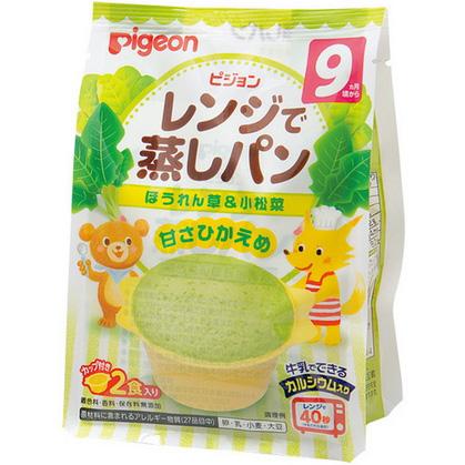 贝亲 高钙菠菜小松菜蒸面包
