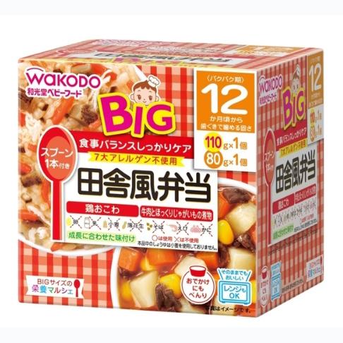 wakodo和光堂12个月宝宝辅食鸡肉糯米小豆饭牛肉土豆