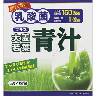 Yuwa 乳酸菌加大麦若叶青汁12包