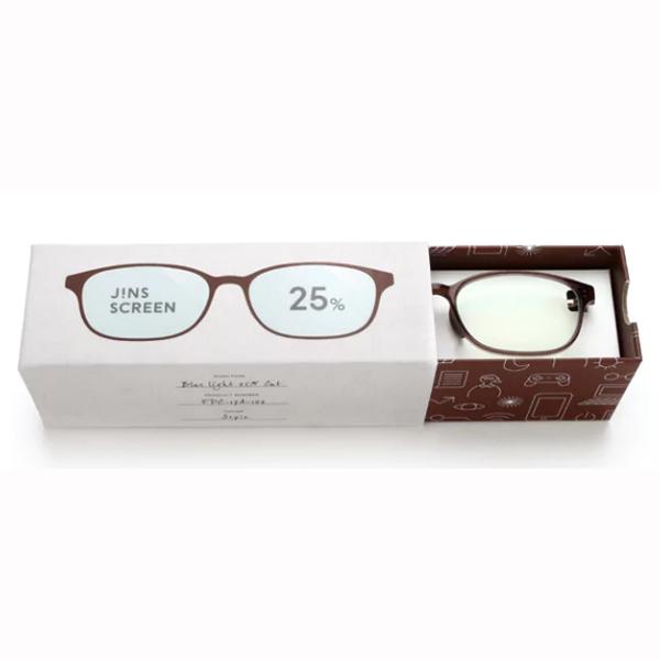JINS 25%蓝光眼镜FPC-17A-102棕褐色 成人用