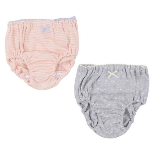 女宝内裤2条装100cm粉加灰