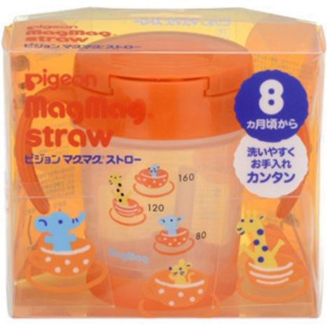 贝亲 水杯吸管式橙色