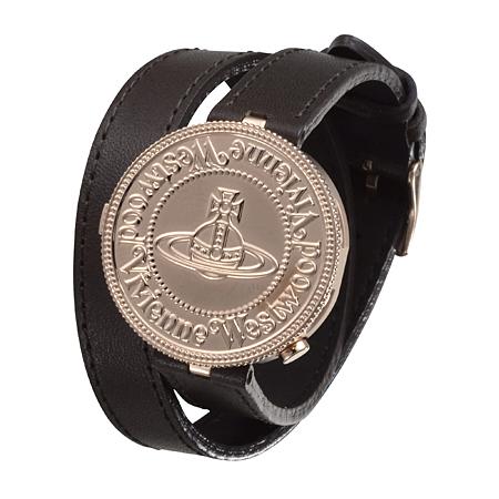 Vivienne Westwood 硬币表盘双层缠绕式手表VW77B6-12-F