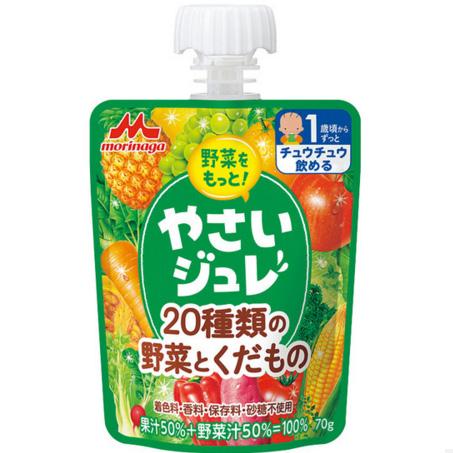 森永 绿色蔬菜吸吸乐果冻