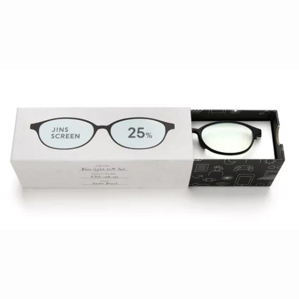 JINS 25%蓝光眼镜FPC-17A-101黑色 成人用