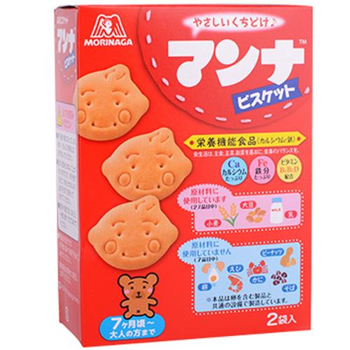 森永婴儿零食钙铁维生素饼干86g