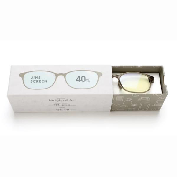 JINS 40%蓝光眼镜FPC-17A-002浅灰色 成人用