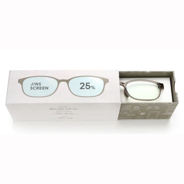 JINS 25%蓝光眼镜FPC-17A-102浅灰色 成人用
