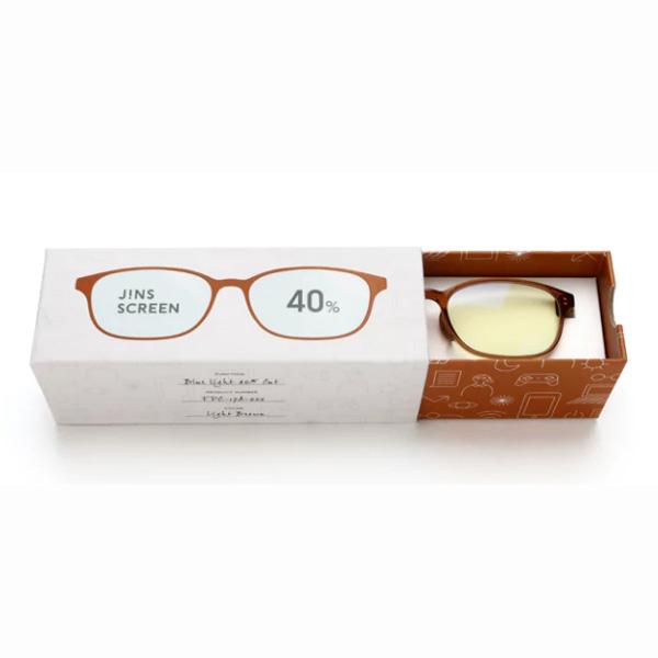 JINS 40%蓝光眼镜FPC-17A-002浅棕色 成人用