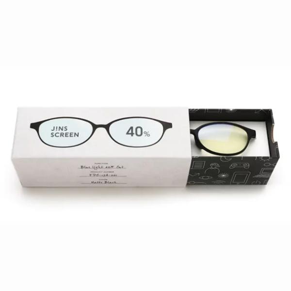 JINS 40%蓝光眼镜FPC-17A-001黑色 成人用