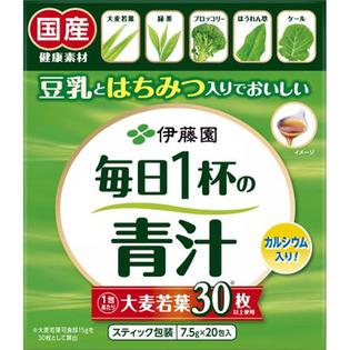 伊藤园 豆乳蜂蜜大麦若叶每日1杯青汁有糖7.5g×20包