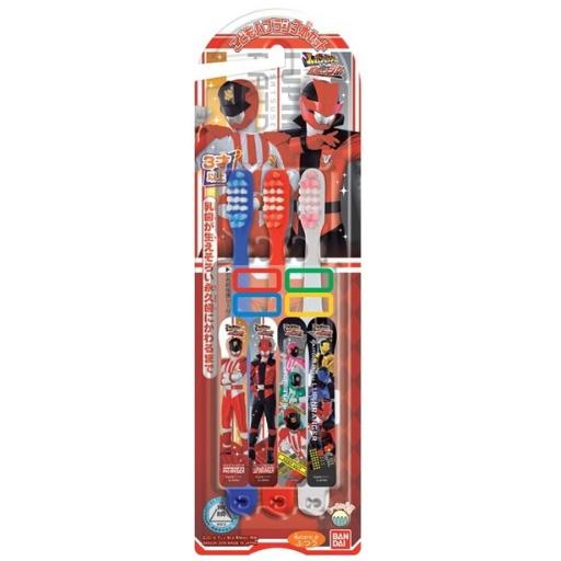 万代 儿童贴纸牙刷3支 鲁邦VS巴特伦图案 3~6岁男
