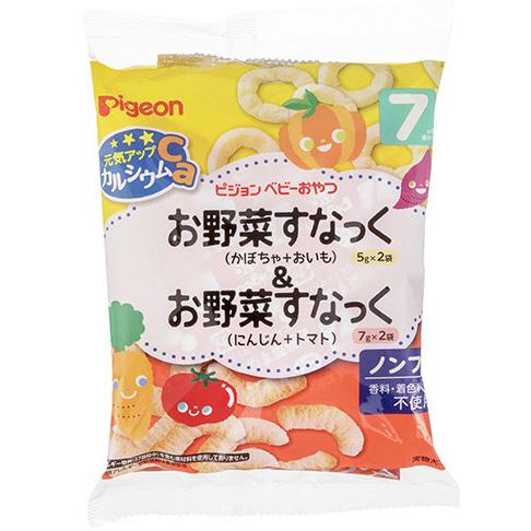 贝亲 南瓜甘薯圈+胡萝卜番茄米条