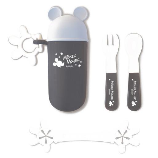 锦化成 迪士尼宝宝儿童便携餐具组合 黑色米奇