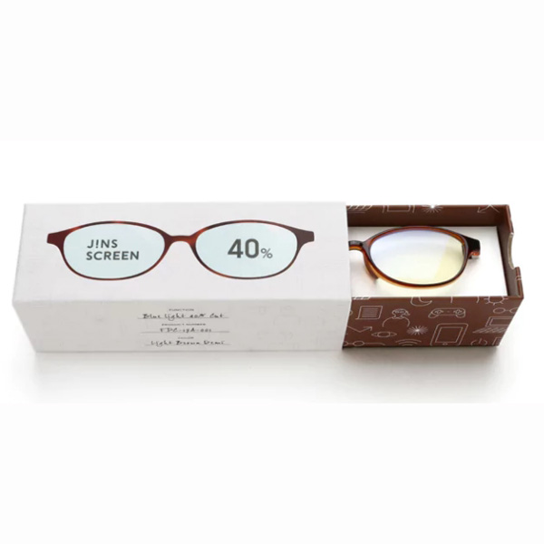 JINS 40%蓝光眼镜FPC-17A-001玳瑁色 成人用