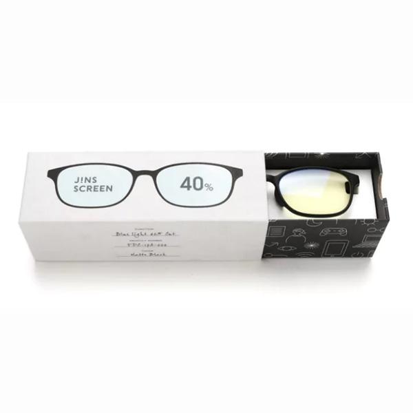 JINS 40%蓝光眼镜FPC-17A-002黑色 成人用