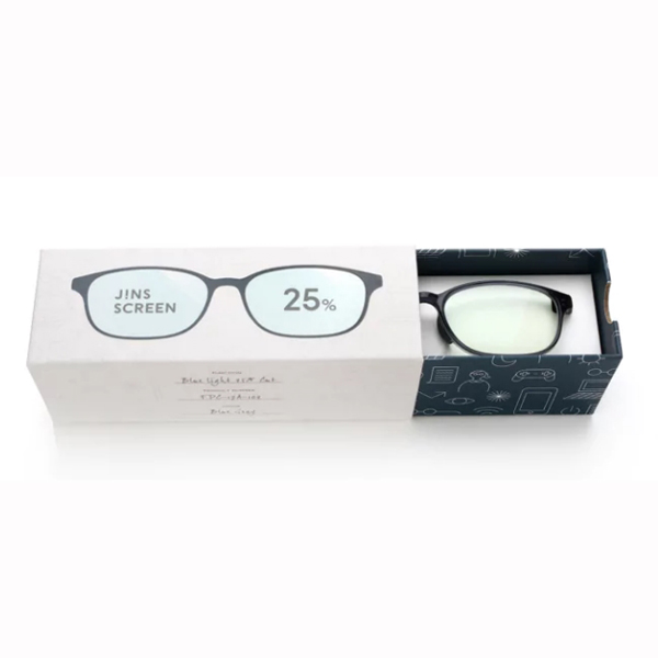 JINS 25%蓝光眼镜FPC-17A-102蓝灰色 成人用