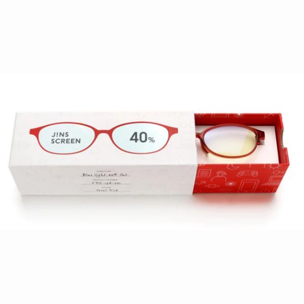 JINS 40%蓝光眼镜FPC-17A-001珊瑚红 成人用