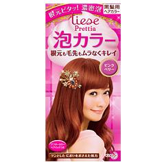 KAO/花王/liese Prettia植物泡泡染发剂108ml 浆果粉棕色