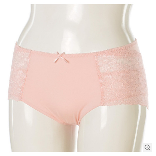 Mama Labo 骨盆贴合内裤蕾丝花边粉色