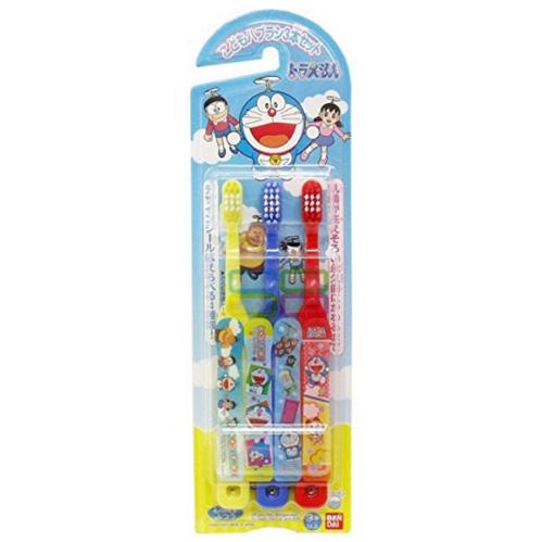 万代 儿童贴纸牙刷3支 多啦A梦图案 3岁以上