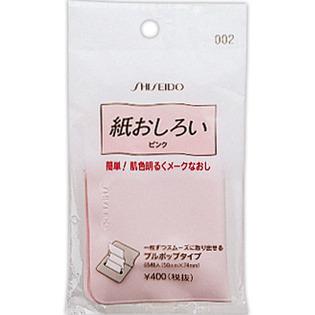 资生堂 快速修颜补妆柔和细腻吸油纸 提亮肤色