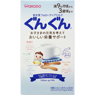 和光堂二段奶粉便携装14gx10