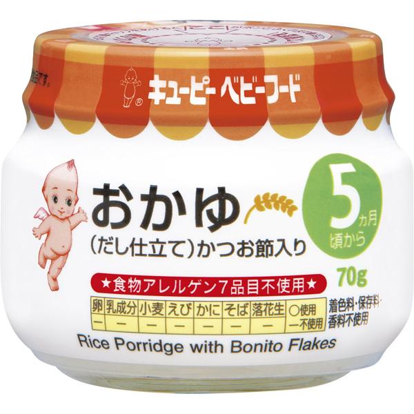 丘比 鲣鱼海带粥米糊罐装
