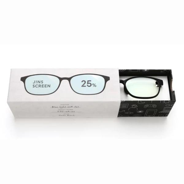 JINS 25%蓝光眼镜FPC-17A-102 黑色 成人用