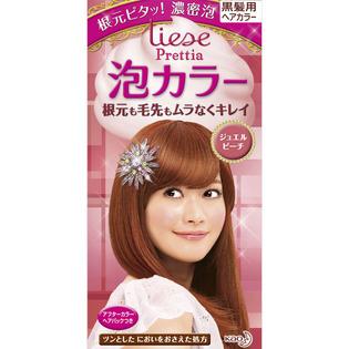 KAO/花王/liese Prettia植物泡泡染发剂108ml 珠宝蜜桃色