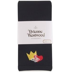 vivienne westwood皇冠桃心刺绣 10分打底裤 黑色