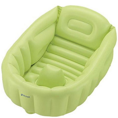 利其尔宝宝充气浴盆  绿色