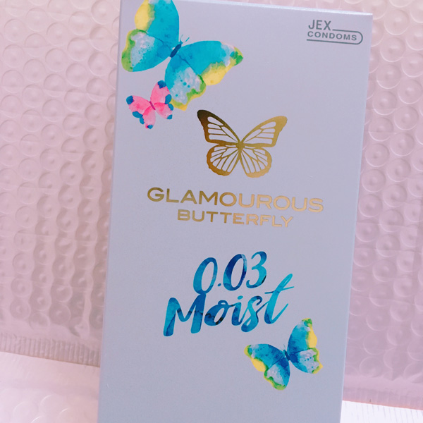 JEX 003魅力蝴蝶超薄润滑热感0.03安全套
