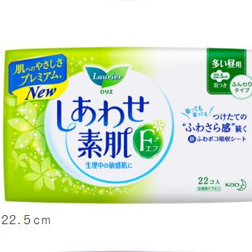 花王乐而雅F素肌量多日用护翼卫生巾22.5cm22片