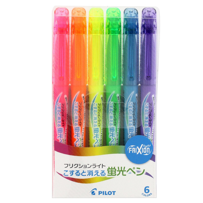 百乐彩色 可擦荧光笔6色