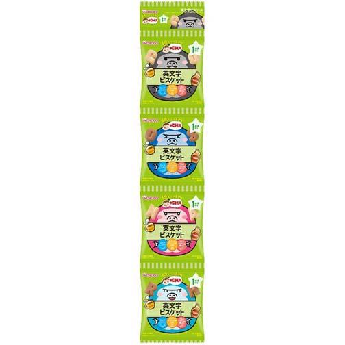 和光堂婴儿零食DHA钙铁英文字饼干 56g(14g×4袋)