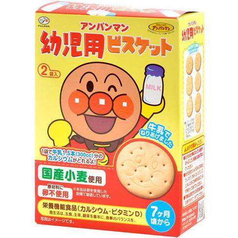 面包超人牛奶营养机能饼干 84g(42g×2袋)