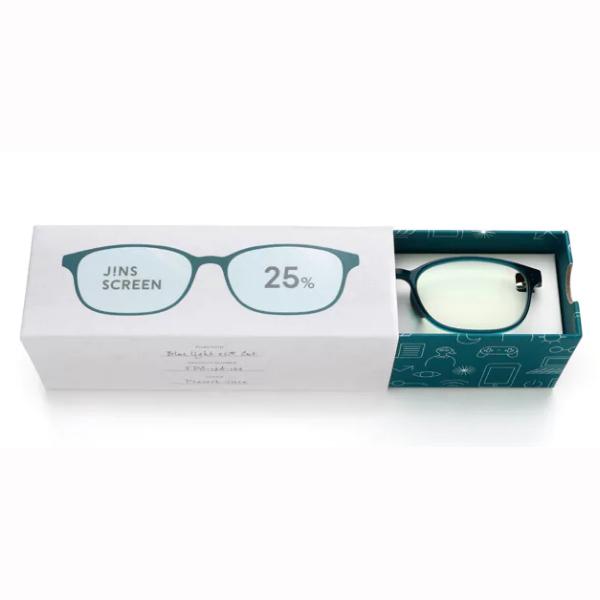 JINS 25%蓝光眼镜FPC-17A-102孔雀绿 成人用