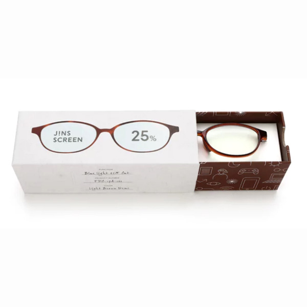 JINS 25%蓝光眼镜FPC-17A-101玳瑁色 成人用