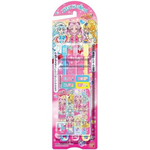 万代 儿童贴纸牙刷3支 美少女战士图案 3~6岁女