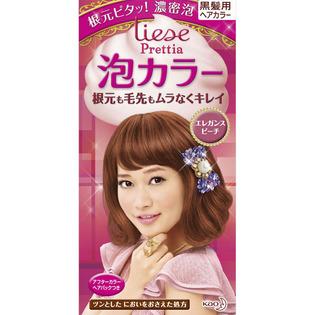 KAO/花王/liese Prettia植物泡泡染发剂108ml 优雅粉棕色