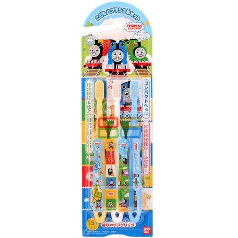 万代 儿童贴纸牙刷3支 托马斯图案 1.5岁以上