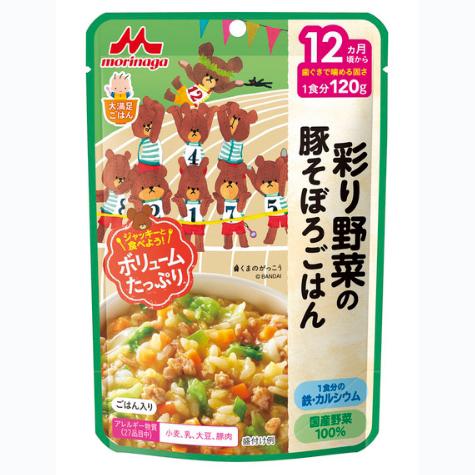 森永宝宝辅食补钙补铁多彩蔬菜和猪肉沫烩饭