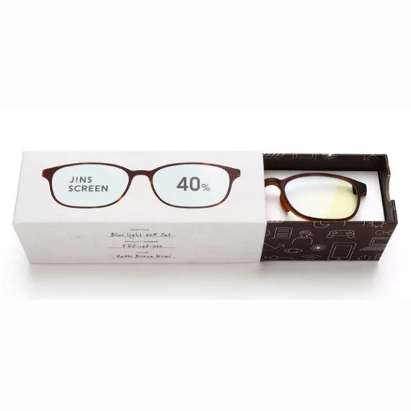 JINS 40%蓝光眼镜FPC-17A-002玳瑁色 成人用