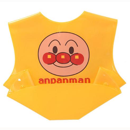 面包超人儿童吃饭围嘴围兜防水可接食物黄色