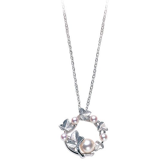MIKIMOTO御木本常青藤设计珍珠吊坠项链
